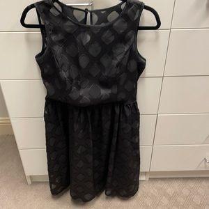 Black Banana Republic chiffon dress
